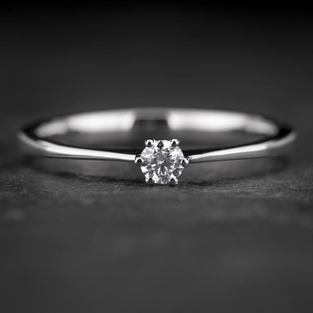 """Sužadėtuvių žiedas su Briliantu """"Classic 38"""""""