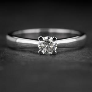 """Sužadėtuvių žiedas su Briliantu """"The best 31"""""""