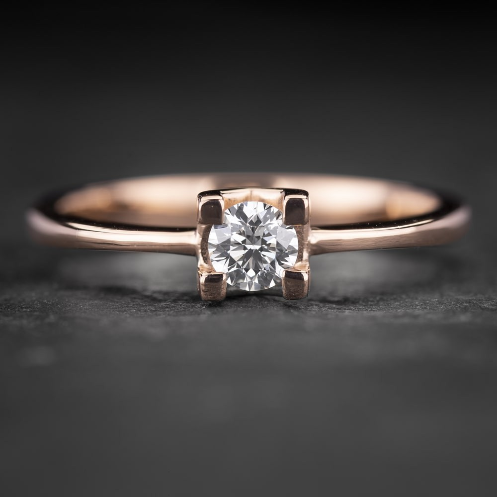 """Sužadėtuvių žiedas su Briliantu """"The Diamond 71"""""""