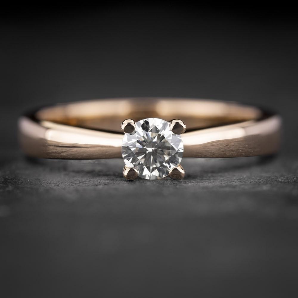 """Sužadėtuvių žiedas su Briliantu """"The Best 33"""""""