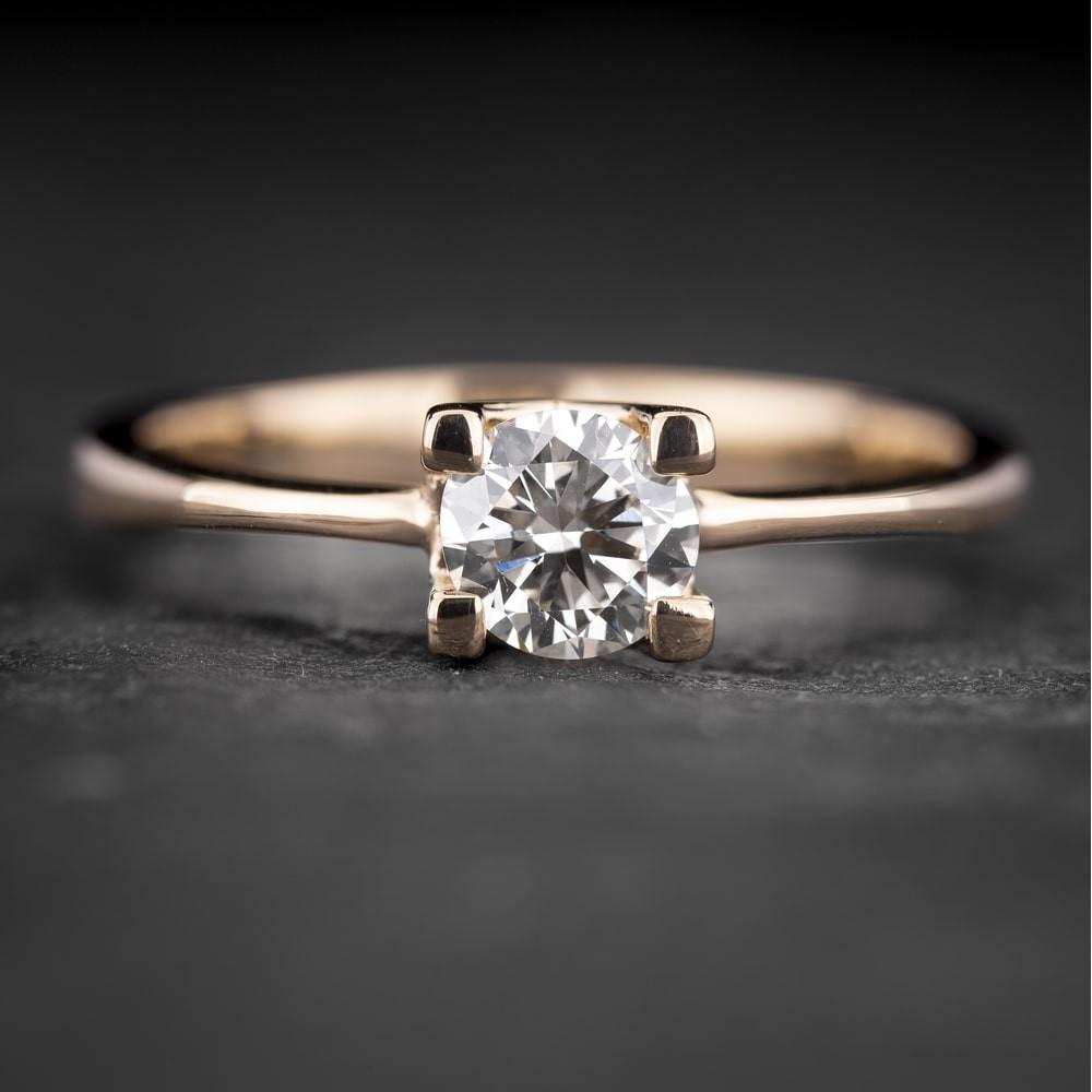 """Sužadėtuvių žiedas su Briliantu """"The Diamond 74"""""""