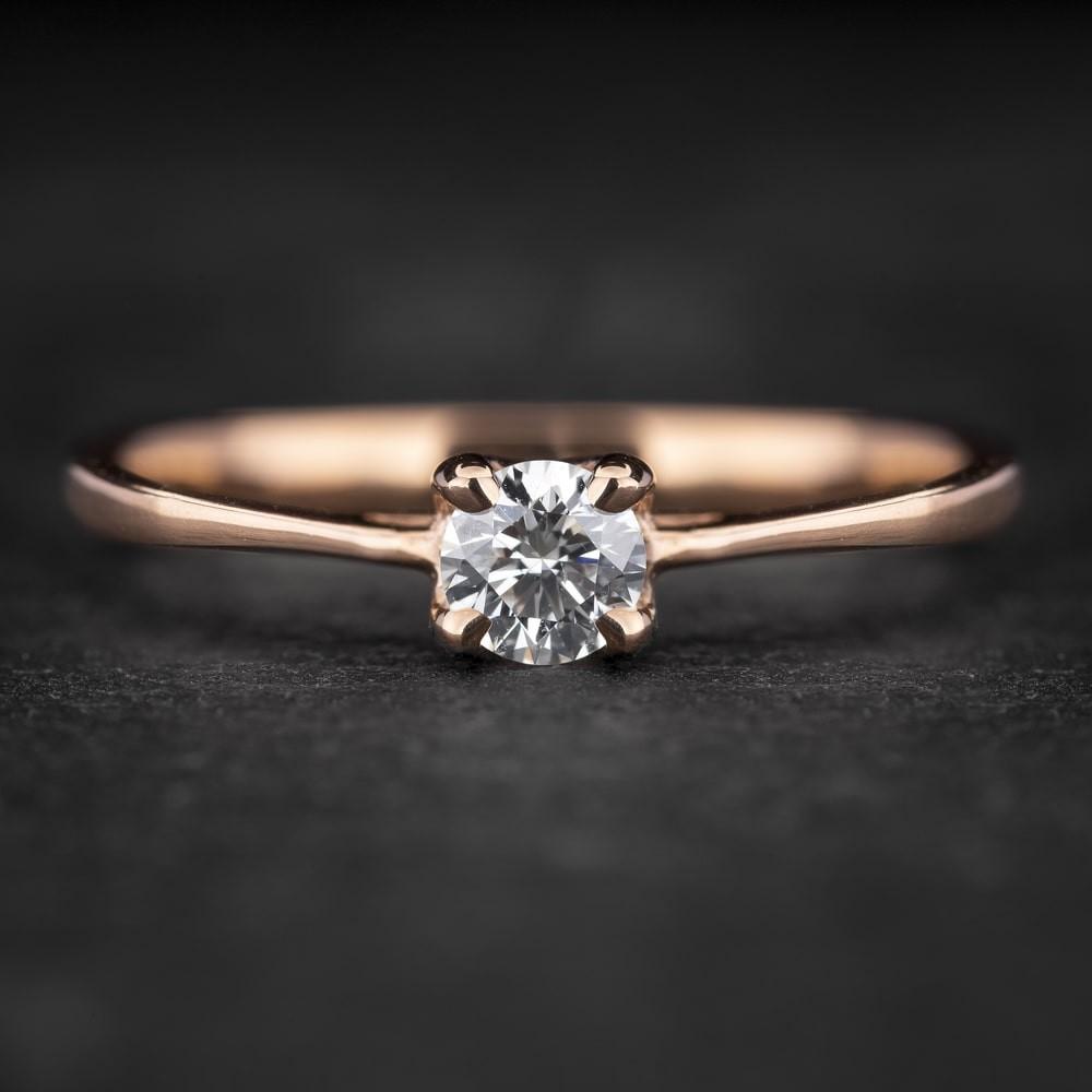 """Auksinis žiedas su Briliantu """"The Diamond 76"""""""