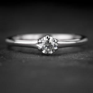 """Sužadėtuvių žiedas su Briliantu """"The Goddess 73"""""""