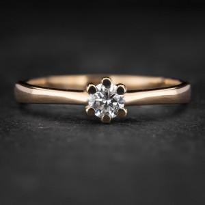"""Sužadėtuvių žiedas su Briliantu """"The Only One 34"""""""
