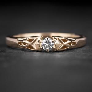 """Sužadėtuvių žiedas su Briliantu """"Fortune 52"""""""