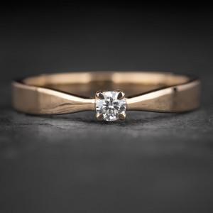"""Sužadėtuvių žiedas su Briliantu """"The Elegance 66"""""""