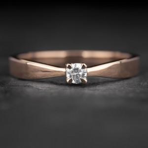 """Sužadėtuvių žiedas su Briliantu """"The Elegance 68"""""""