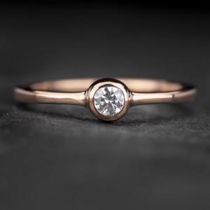 """Sužadėtuvių žiedas su Briliantu """"Sweetness 45"""""""