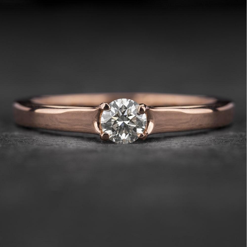 """Sužadėtuvių žiedas su Briliantu """"Energy 7"""""""