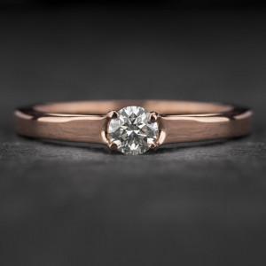 """Sužadėtuvių žiedas su Briliantu """"Energy 9"""""""