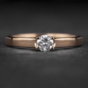 """Sužadėtuvių žiedas su Briliantu """"Energy 10"""""""