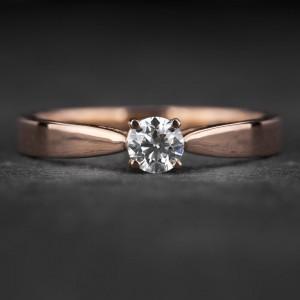 """Sužadėtuvių žiedas su Briliantu """"The Goddess 80"""""""