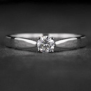 """Sužadėtuvių žiedas su Briliantu """"The Goddess 81"""""""