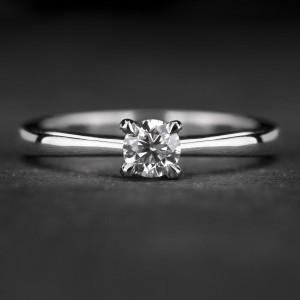 """Sužadėtuvių žiedas su Briliantu """"The Goddess 74"""""""