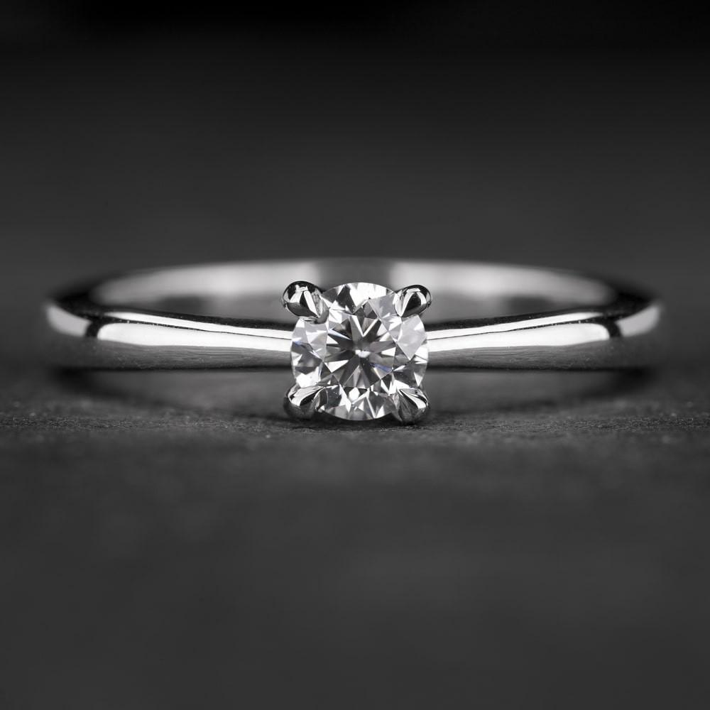 """Sužadėtuvių žiedas su Briliantu """"The Goddess 76"""""""
