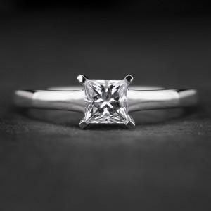 """Sužadėtuvių žiedas su Deimantu """"Princess 82"""""""