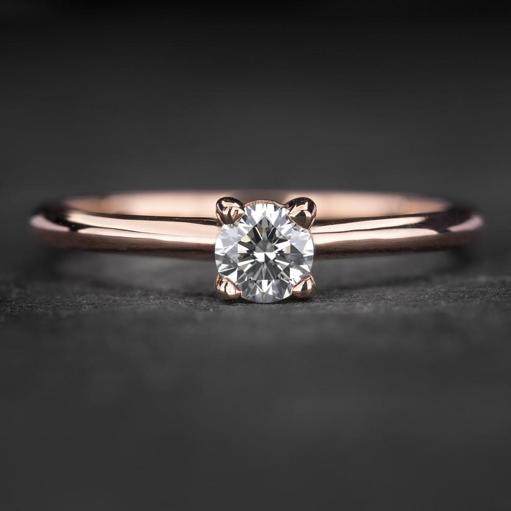 """Sužadėtuvių žiedas su Briliantu """"The Goddess 78"""""""
