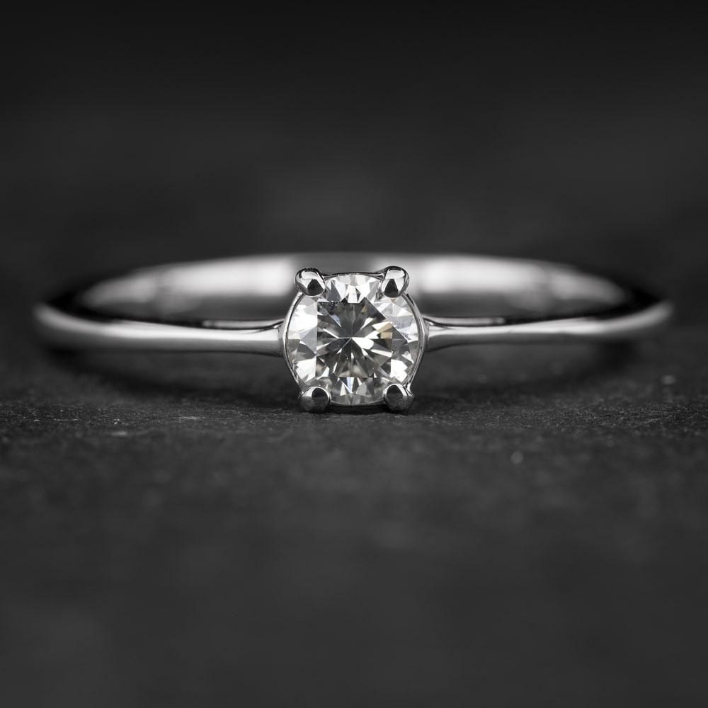 """Sužadėtuvių žiedas su Briliantu """"The Goddess 79"""""""