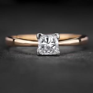 """Sužadėtuvių žiedas su Deimantu """"Princess 83"""""""