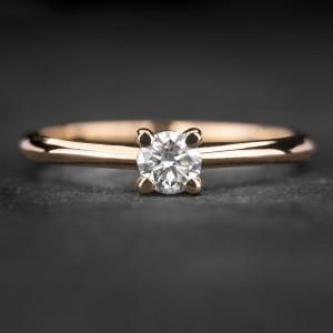 """Sužadėtuvių žiedas su Briliantu """"The Goddess 84"""""""