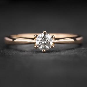 """Sužadėtuvių žiedas su Briliantu """"Classic 51"""""""
