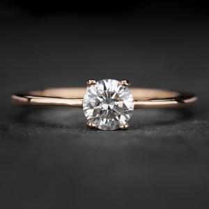 """Sužadėtuvių žiedas su Briliantu """"The Goddess 86"""""""