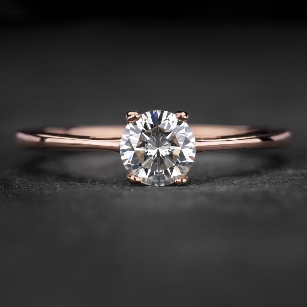 """Sužadėtuvių žiedas su Briliantu """"The Goddess 87"""""""