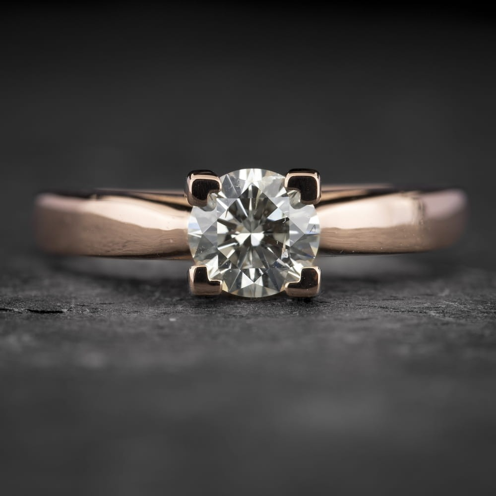 """Sužadėtuvių žiedas su Briliantu """"The Goddess 95"""""""