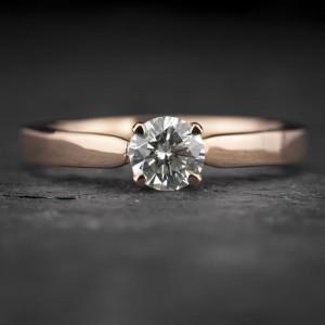 """Sužadėtuvių žiedas su Briliantu """"The Goddess 97"""""""