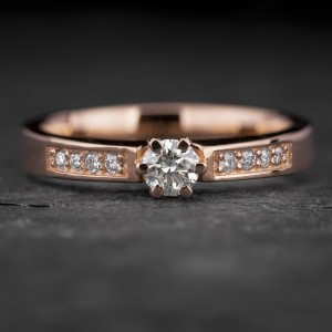 """Sužadėtuvių žiedas su Briliantais """"The Elegance 67"""""""