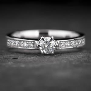 """Sužadėtuvių žiedas su Briliantais """"The Elegance 70"""""""