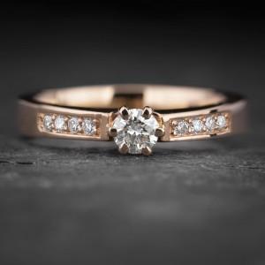 """Sužadėtuvių žiedas su Briliantais """"The Elegance 71"""""""