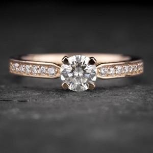 """Sužadėtuvių žiedas su Briliantais """"The Elegance 72"""""""