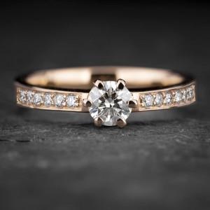 """Sužadėtuvių žiedas su Briliantais """"The Elegance 73"""""""