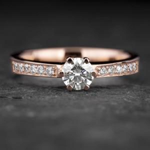 """Sužadėtuvių žiedas su Briliantais """"The Elegance 74"""""""