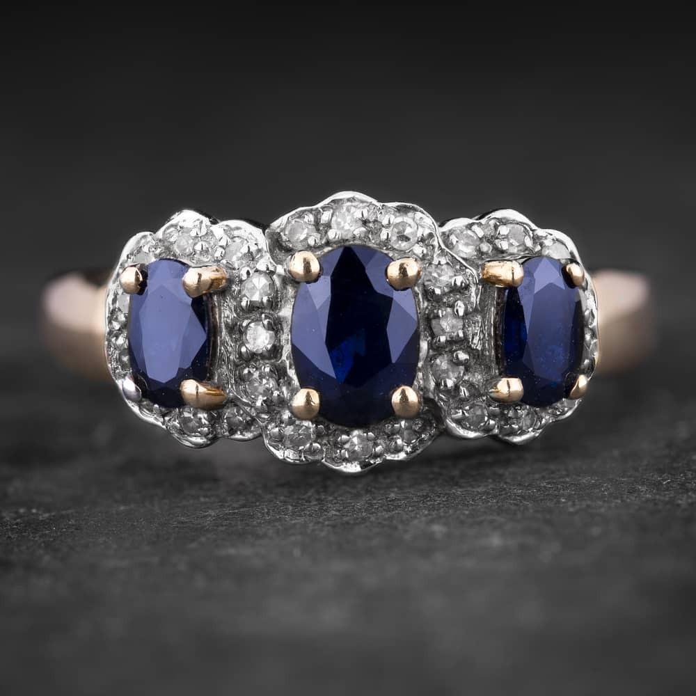 """Auksinis žiedas su Brangakmeniais """"The Sun of Sapphire 9"""""""