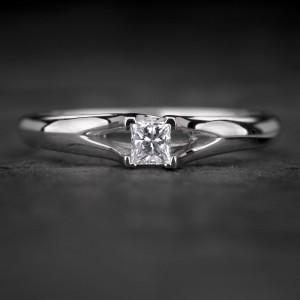 """Sužadėtuvių žiedas su Deimantu """"Princess 86"""""""