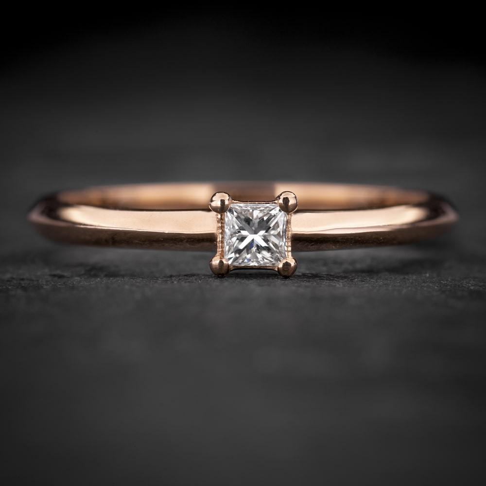 """Sužadėtuvių žiedas su Deimantu """"Princess 87"""""""