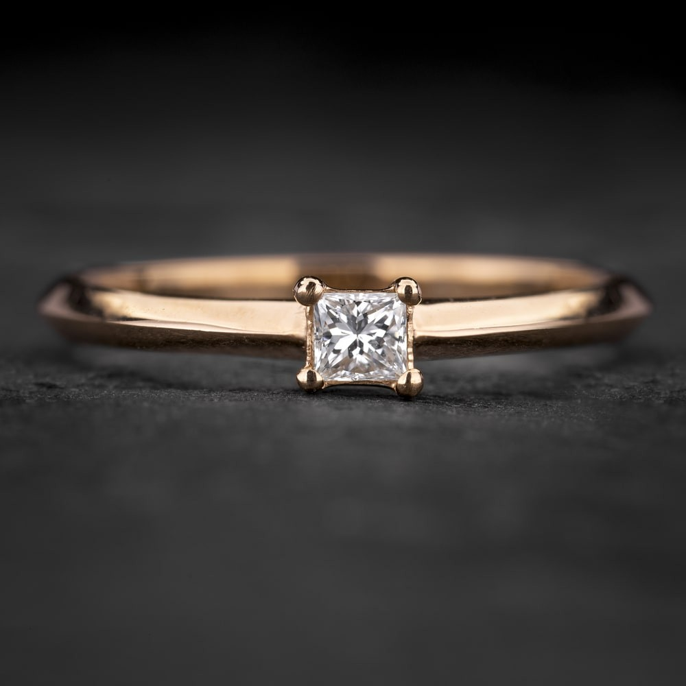 """Sužadėtuvių žiedas su Deimantu """"Princess 88"""""""