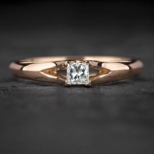 """Sužadėtuvių žiedas su Deimantu """"Princess 91"""""""