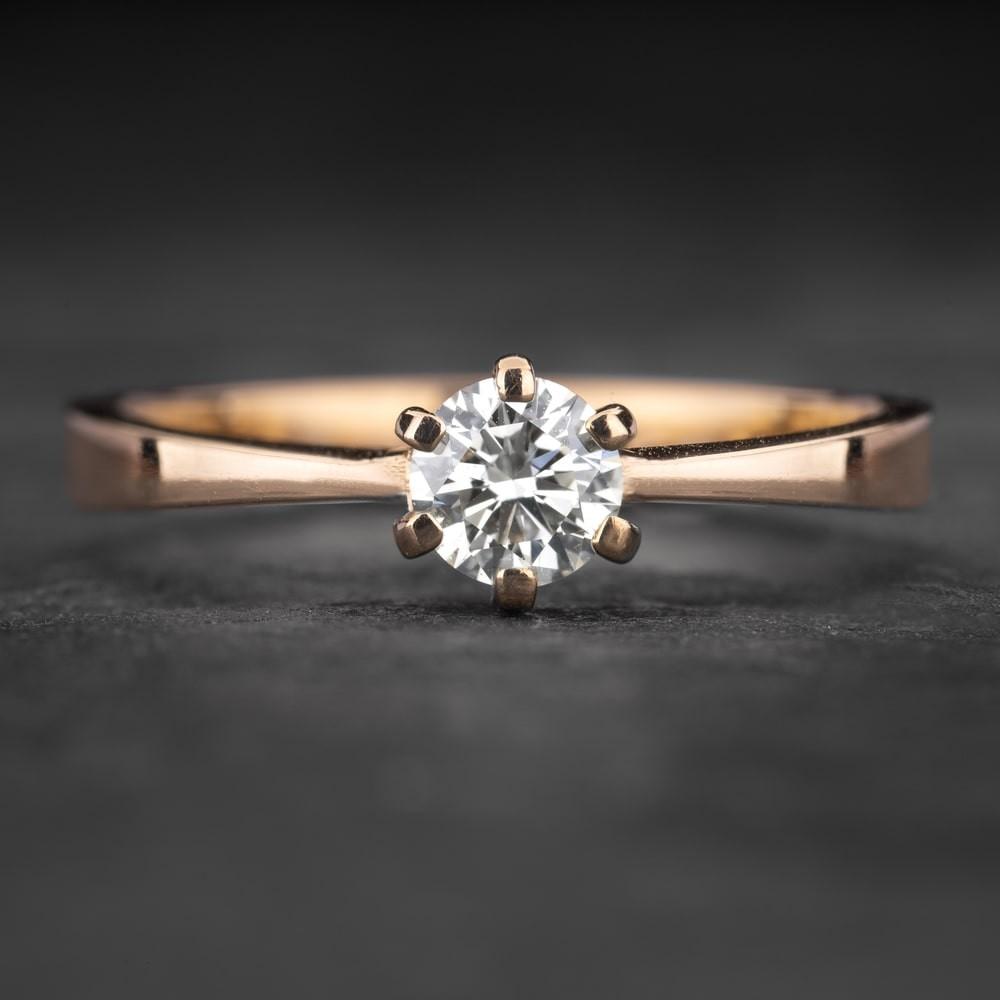 """Sužadėtuvių žiedas su Briliantu """"Classic 54"""""""