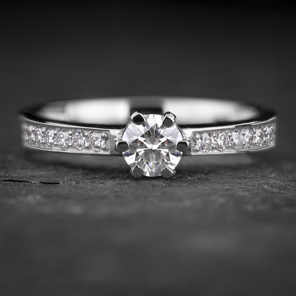 """Sužadėtuvių žiedas su Briliantais """"The Elegance 77"""""""