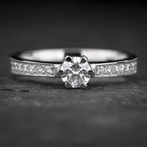 """Sužadėtuvių žiedas su Briliantais """"The Elegance 78"""""""