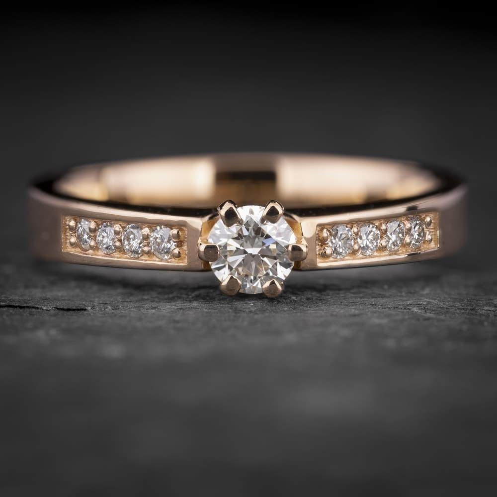 """Sužadėtuvių žiedas su Briliantais """"The Elegance 79"""""""