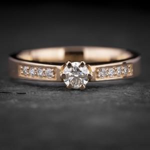 """Sužadėtuvių žiedas su Briliantais """"The Elegance 83"""""""