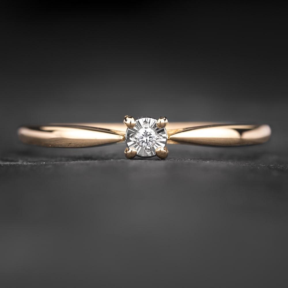 """Sužadėtuvių žiedas su Briliantu """"The Sun 62"""""""