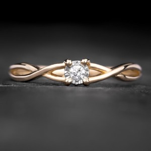 """Sužadėtuvių žiedas su Briliantu """"Fortune 55"""""""