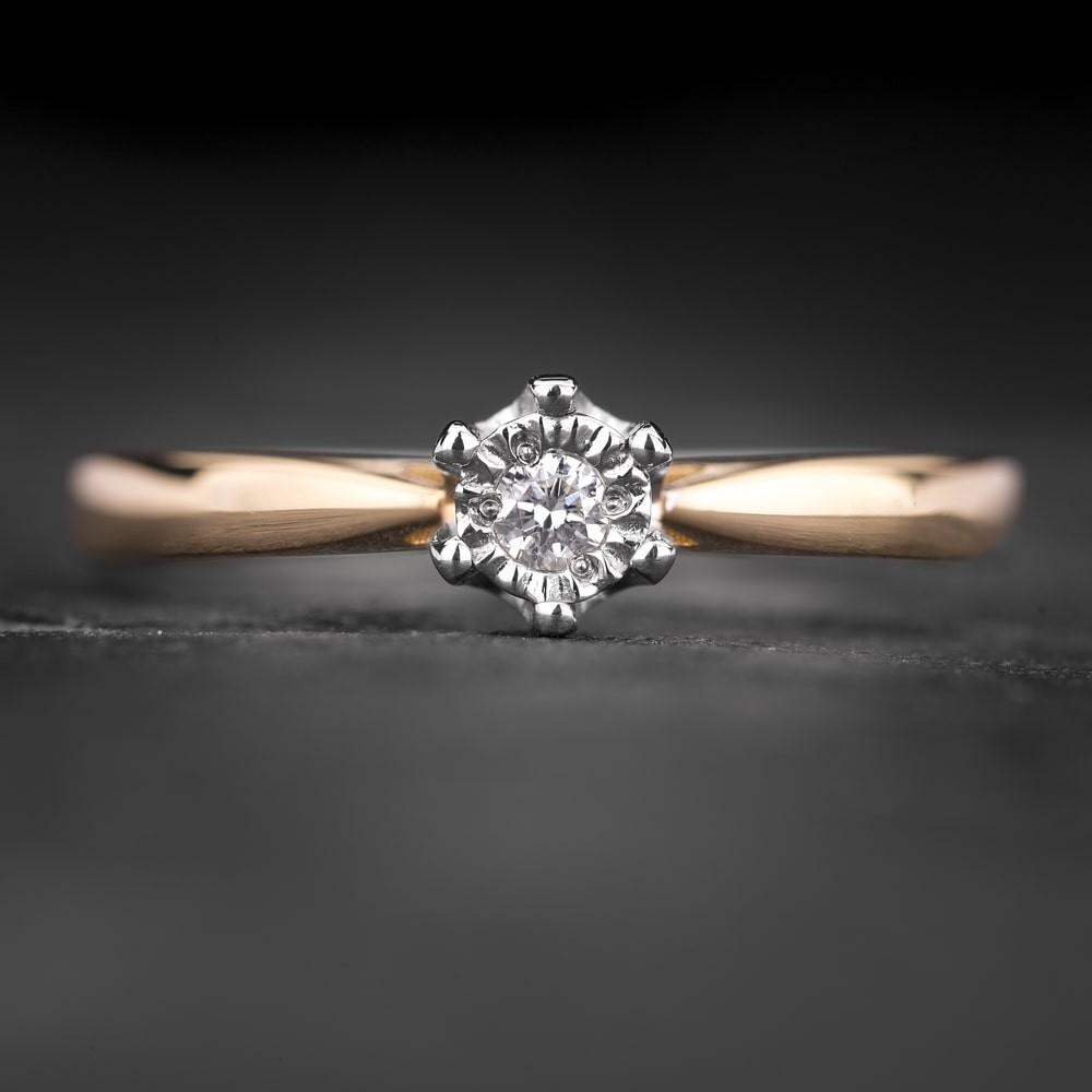 """Sužadėtuvių žiedas su Briliantu """"The Sun 63"""""""