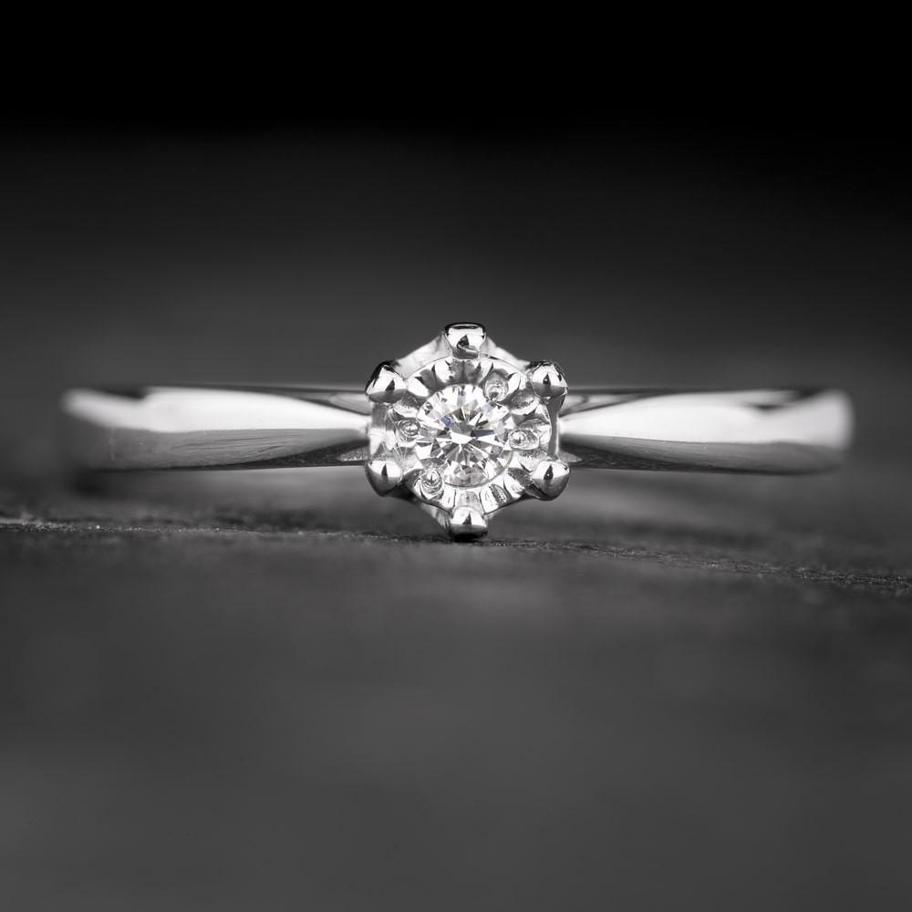 """Sužadėtuvių žiedas su Briliantu """"The Sun 64"""""""