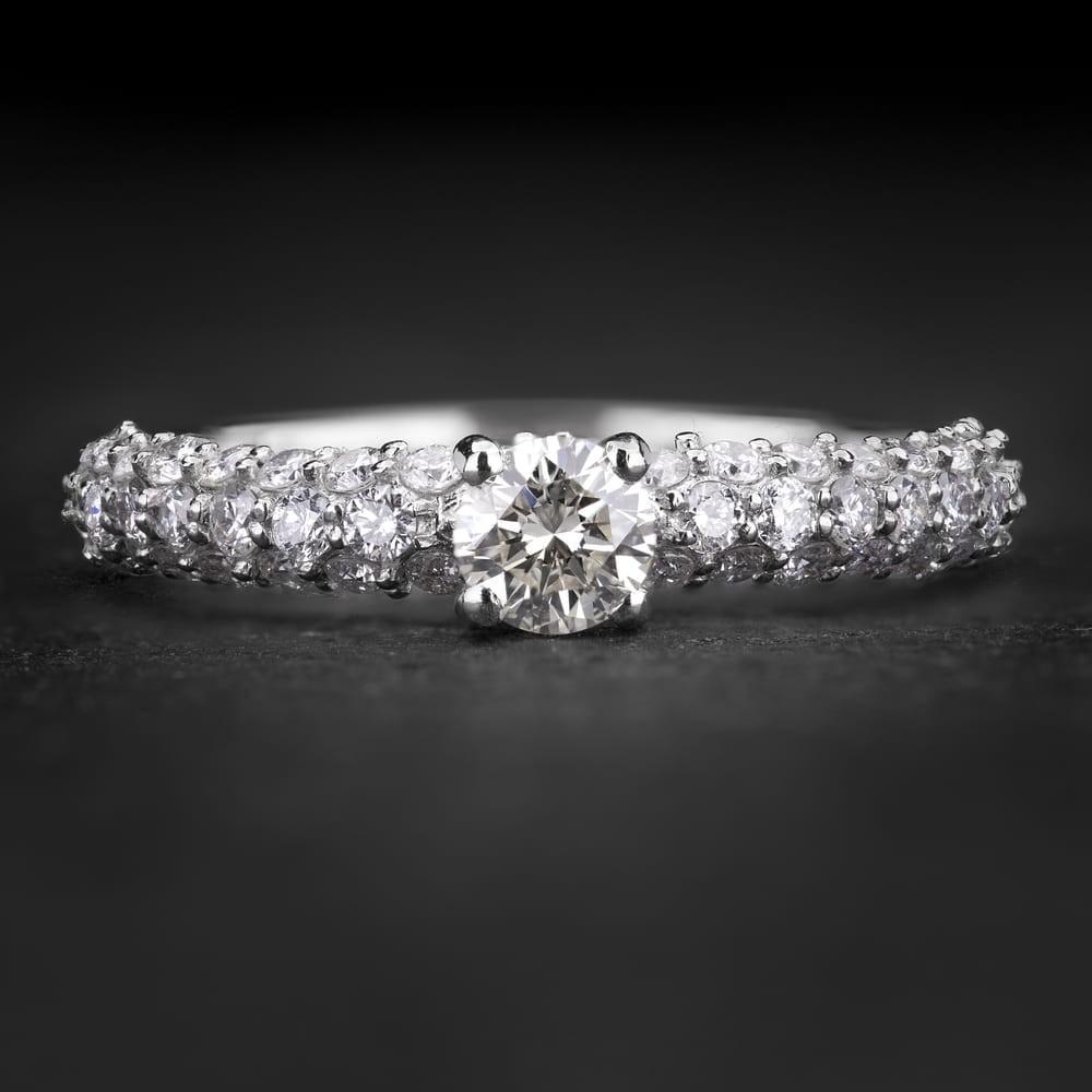 """Sužadėtuvių žiedas su Briliantais """"The Elegance 84"""""""